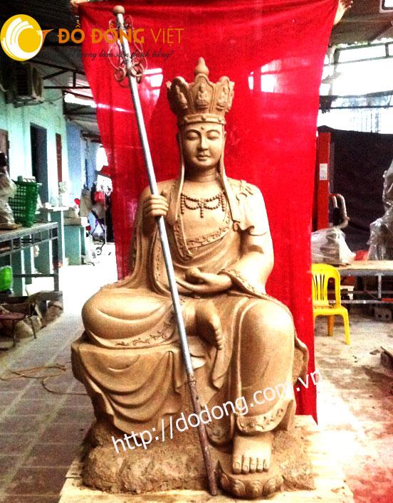 Đúc tượng địa tạng vương bồ tát 155cm chùa Minh Quang0