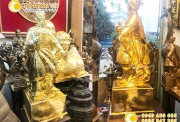 Mẫu tượng Trần Hưng Đạo – Trần Quốc Tuấn bằng đồng mạ vàng