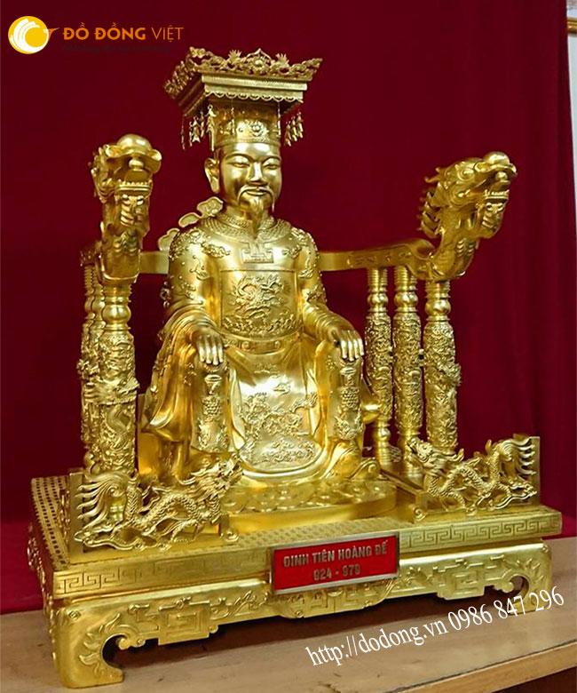 bức tượng đồng vua đinh tiên hoàng,đinh bộ lĩnh đồng vàng