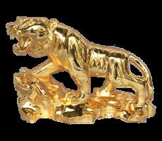 Tượng hổ, tượng con hổ bằng đồng, tượng hổ mạ vàng 24k