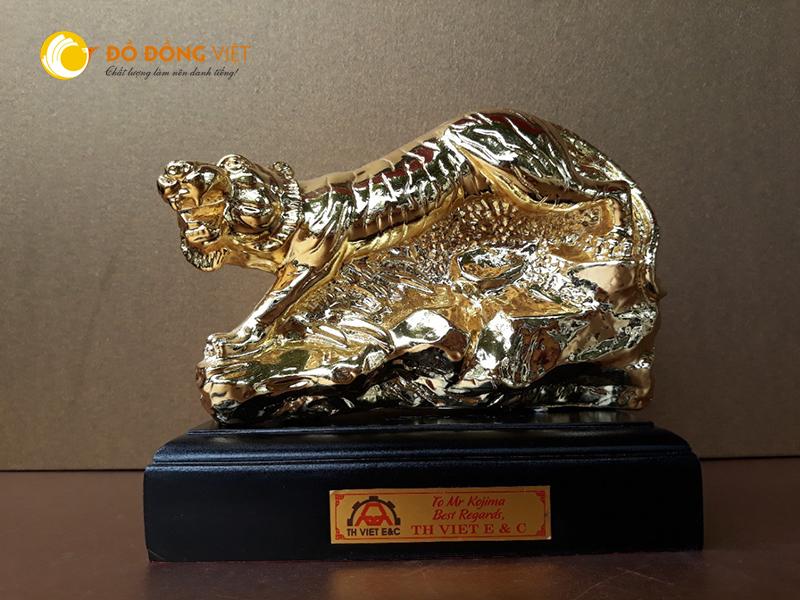 Tượng hổ phong thủy mạ vàng0