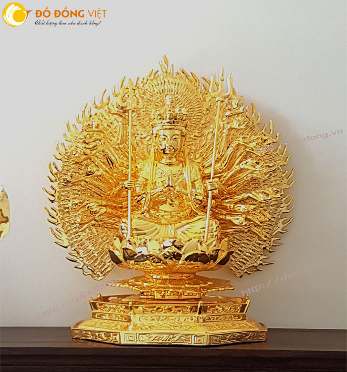 Bức tượng phật bằng đồng nguyên chất,mạ vàng 24k sang trọng và ý nghĩa