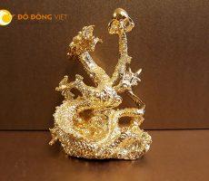 Tượng rồng phong thủy cầm ngọc mạ vàng 24k