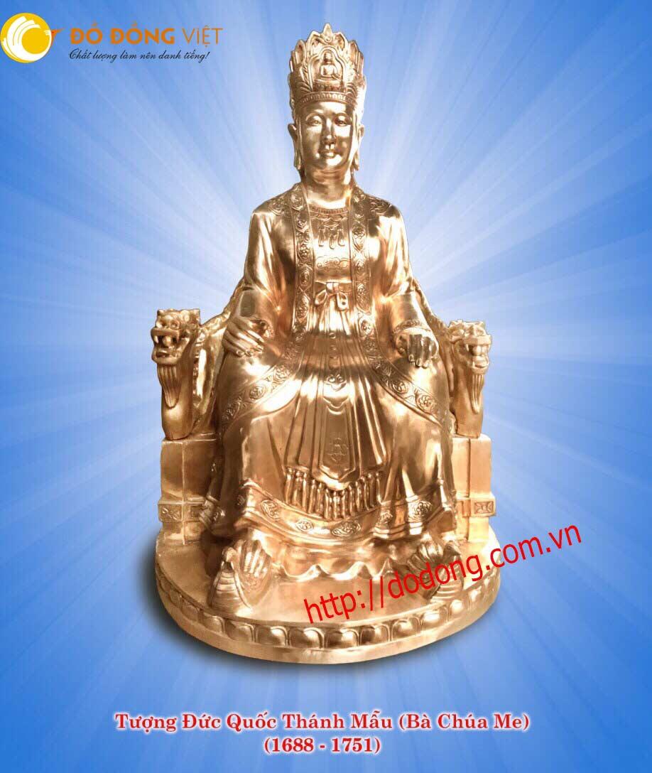 Đúc tượng Quốc thánh mẫu, thái phi chúa Trịnh cương0