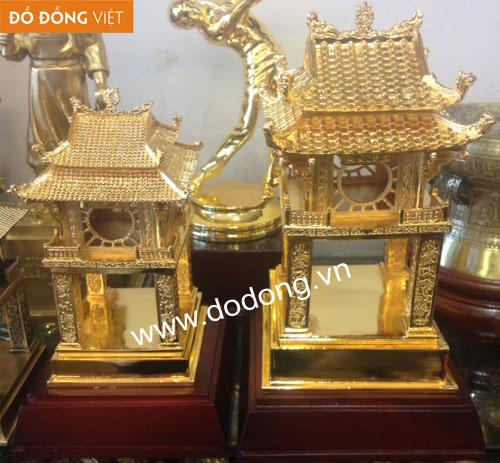 tượng đồng văn miếu đúc thu nhỏ mạ vàng 9999 cao cấp làm quà tặng víp